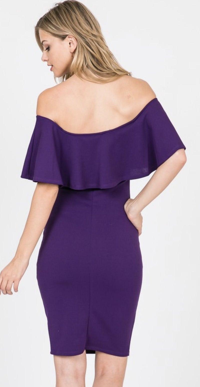 Ruffle v-neck dress