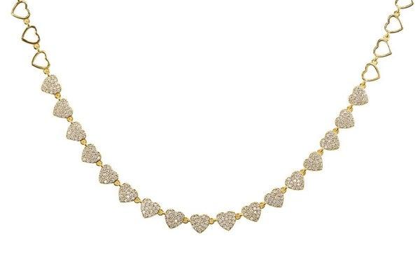 Hearts align necklace