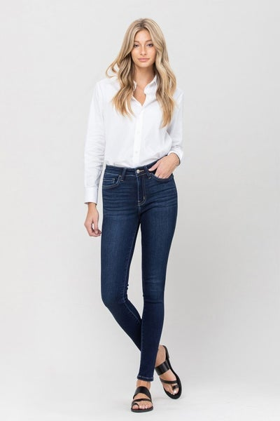 Mid Rise Ankle Denim