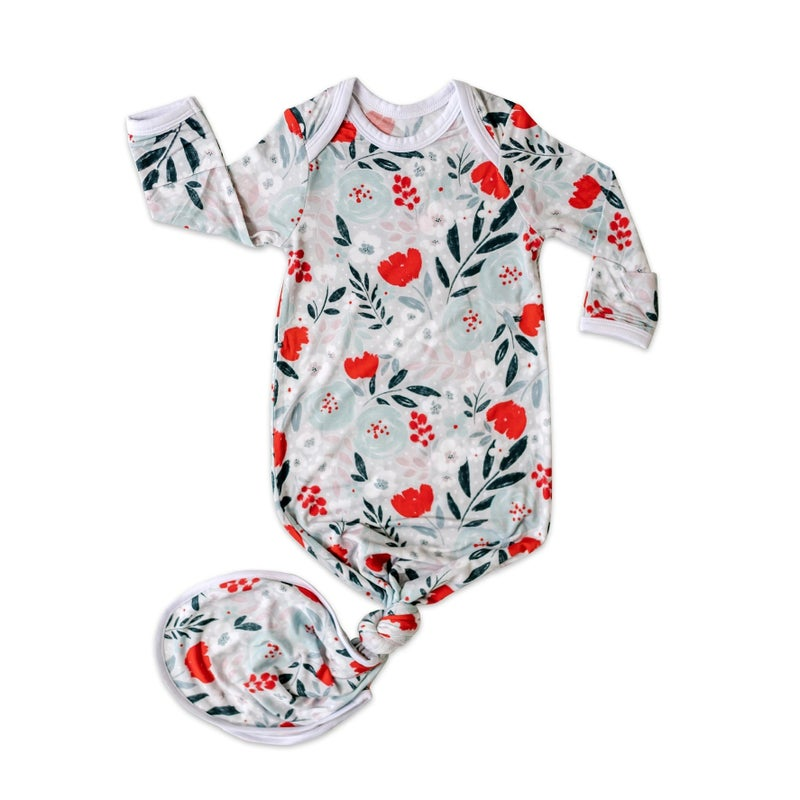 Winter Floral Infant Gown