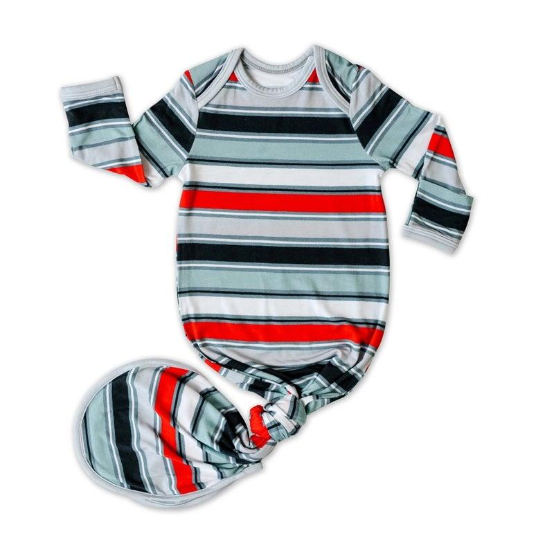 Winter Stripe Infant Gown