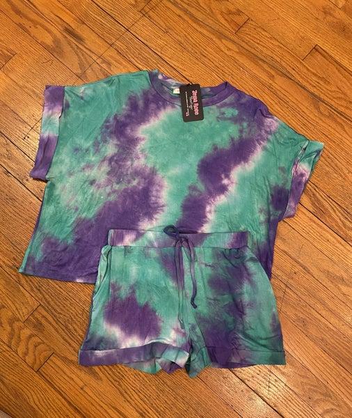 Tie Dye shorts set