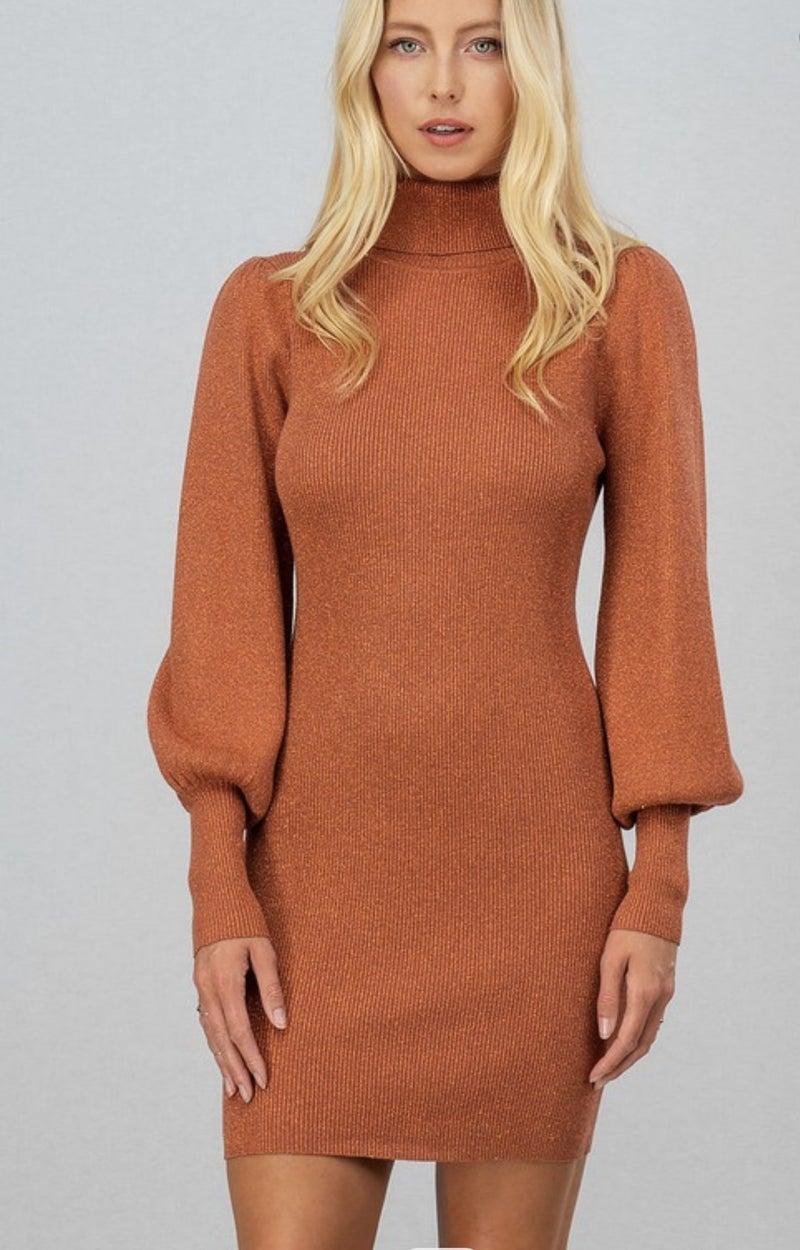 Rib knit dress