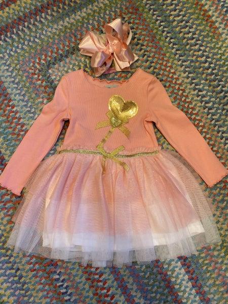 Fitted tutu dress in pink