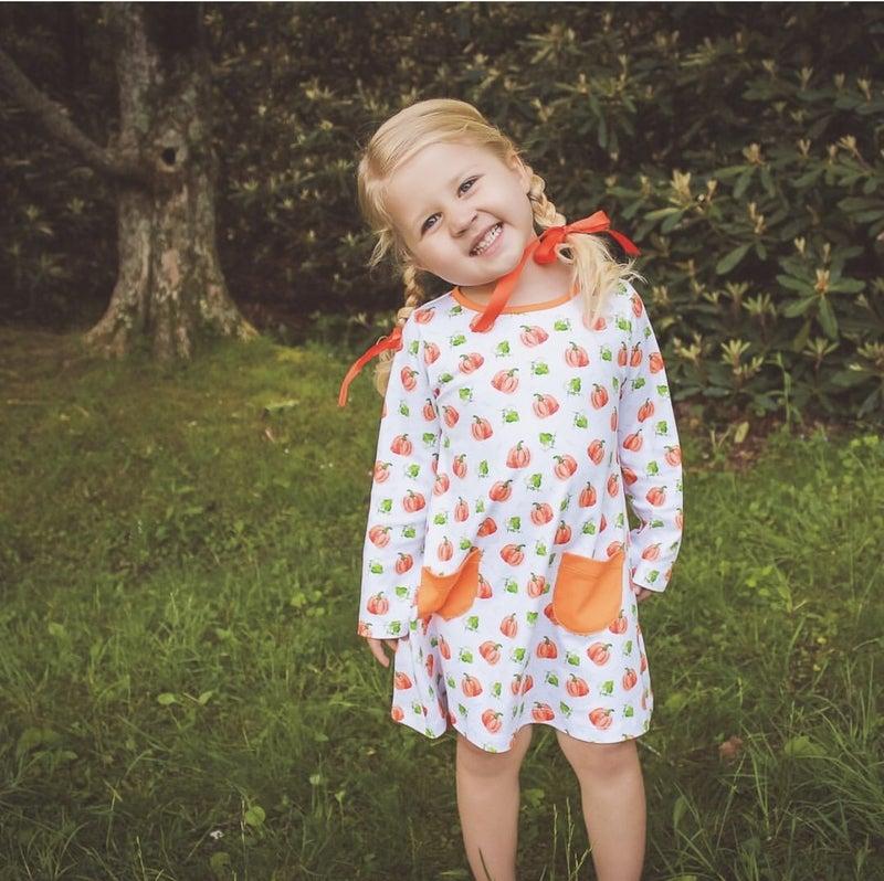 Parker Pumpkin A-line Dress
