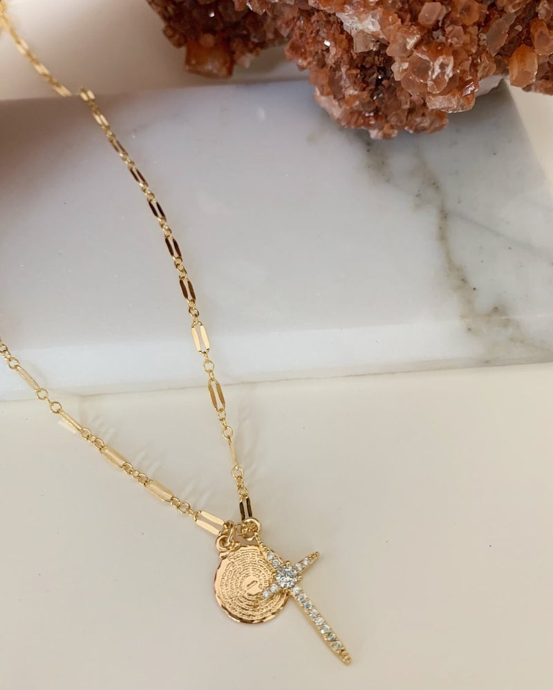Hopeful cross necklace