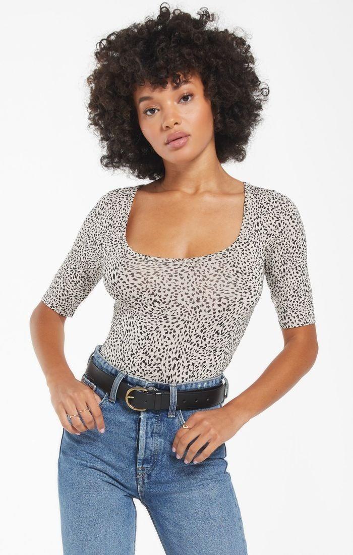 Cara Mini Leopard Bodysuit