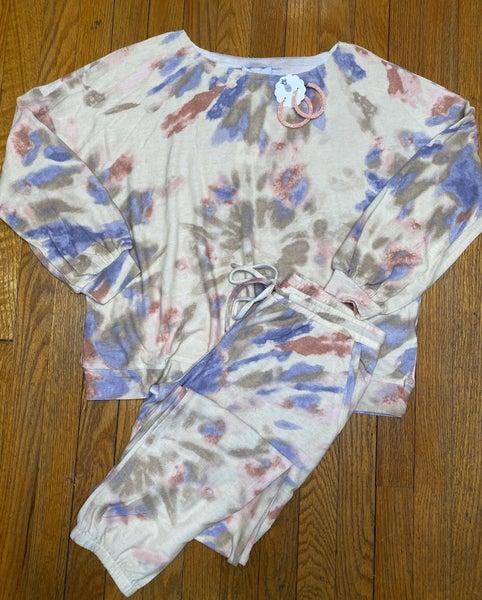 Tie Dye Print Jogger Set
