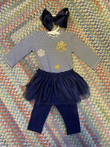 Stripe bodysuit/tutu