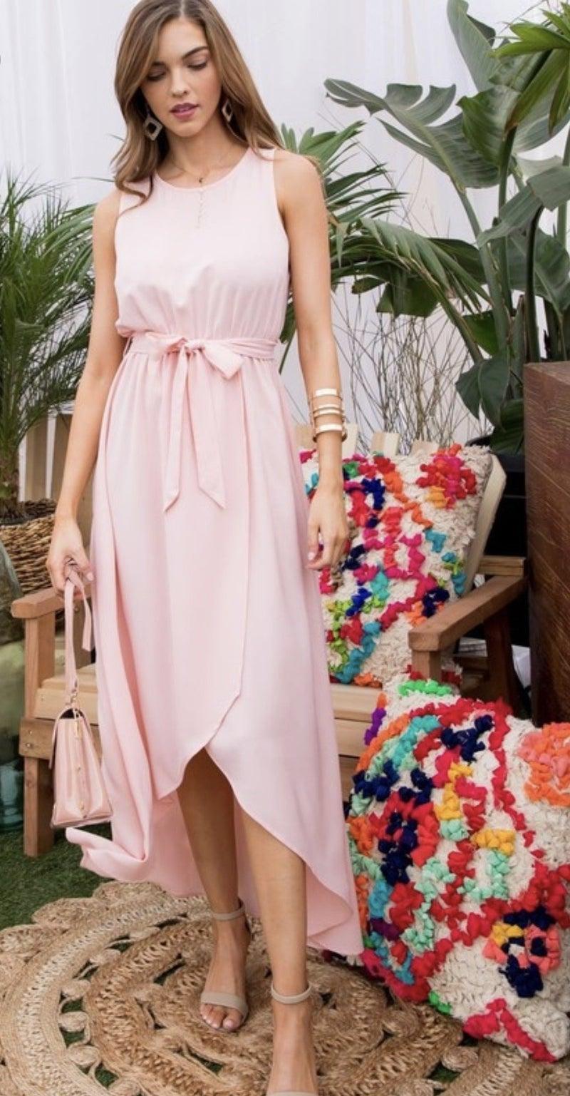 Round neck sleeveless dress
