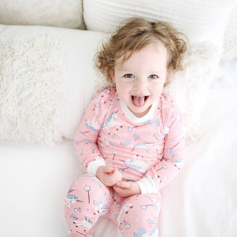 Little Sleepies Unicorns Two Piece PJ Set