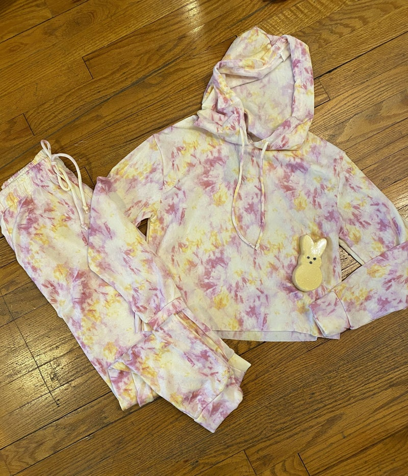 Cotton Candy Hoodie Set