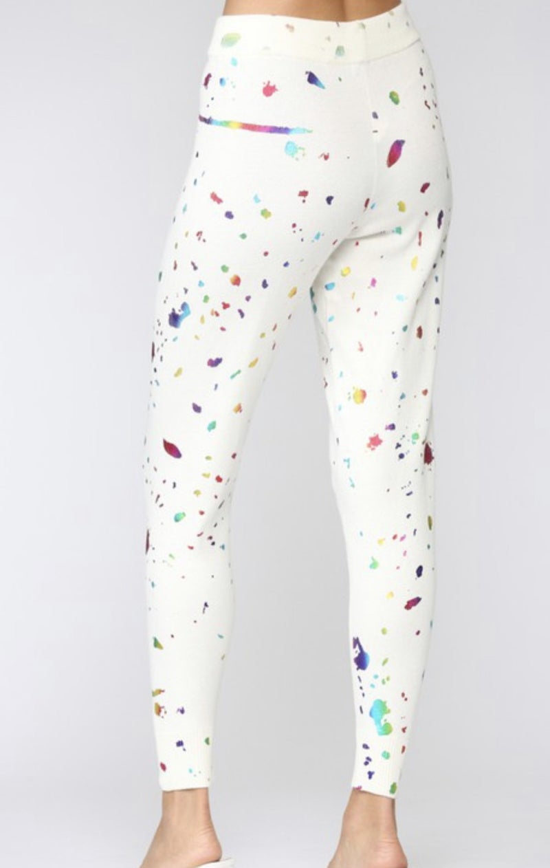 Splatter Knit jogger