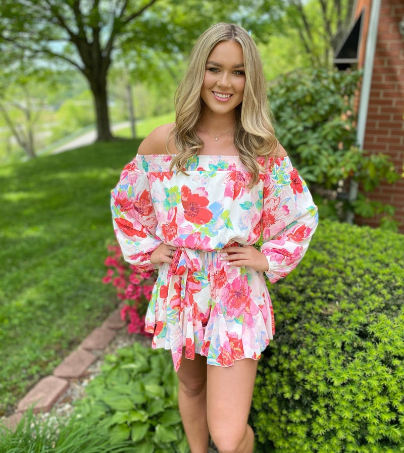 Woven Floral Romper