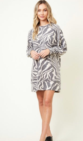 Print Sweatshirt Dress