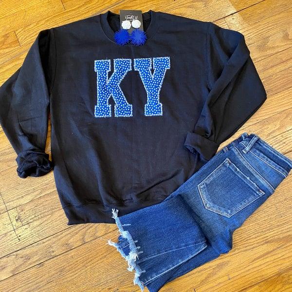 KY polka print sweatshirt