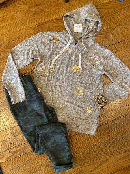 Gold star hoodie