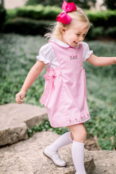 Phoebe Pink Jumper/Short Sleeve Shirt set