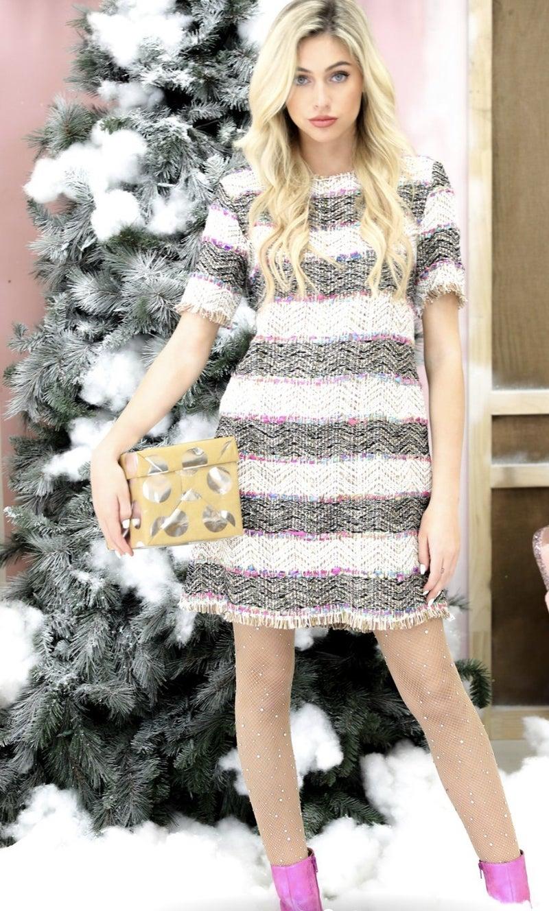 Coco tweed shift dress