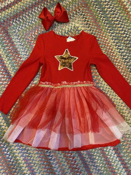 Gold star tutu dress